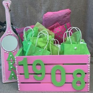 Sorority crate and paddle set